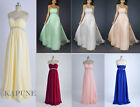 Stock Cheap Empire Strapless Chiffon Women Formal Bridesmaid Evening Prom Dress