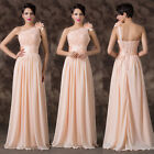 New Coquettish Flower One Shoulder Bridesmaid Party Gown Prom Evening Dress Gown