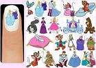 60x CINDERELLA Nail Art Decals + Free Gems Disney Princesses Fairy Godmother