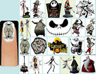 60x The NIGHTMARE BEFORE CHRISTMAS Nail Art Decals + Free Gems Disney Jack Sally