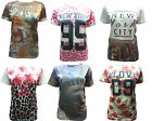 NEW LADIES FLORAL NYC SUBLIMATION PRINT WOMENS BAGGY OVERSIZE TOP T-SHIRT