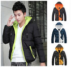 NEW Fashion Men's Casual Winter Warm Down Cotton Jacket Hooded Thick Coat