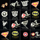 Mens Super Hero Logo Cufflinks Novelty Wedding Cuff Link Copper Acc Gift
