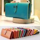 Womens Girls Faux Leather Bifold Card Credit Holder Clutch Bag Wallet Purse