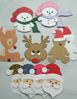 CHRISTMAS CRAFT ROOM CLEAROUT KITS CARD MAKING DIE CUTS SANTA REINDEER SNOWMAN