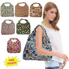 Ladies Waterproof Folding Shoulder Tote Gym Shopping School Bag Pouch Fold Beach