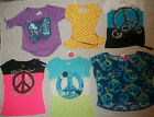 NEW JUSTICE GIRL SIZE 8 10 12 16 18 DREAM & PEACE THEME T-SHIRT/TOP CHOOSE YOURS