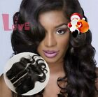 "100% Real Brazilian Virgin human Hair Lace Closure Body Wave 5""x5"" Three Parts"