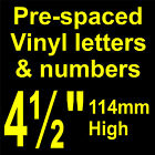 "QTY of: 7 x 4½"" 114mm HIGH STICK-ON  SELF ADHESIVE VINYL LETTERS & NUMBERS"
