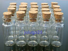 100 Small Glass Bottles Vails with Corks Tiny Bottles 2ml, 1ml, 0.5ml YOU PICK
