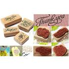Thank You Love Wooden Rubber Stamp Scrapbooking Craft Wedding Party Card Making