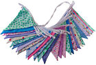 Best Selling Double Sided Floral Fabric Bunting Weddings Christenings Parties