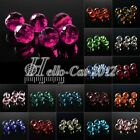 100pcs 6mm Glass Crystal Disco Ball Spacer Loose Beads DIY Jewelry Making 5003