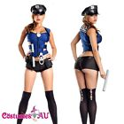 Ladies Blue Police woman Costume Cops Uniform Officer Halloween Fancy Dress