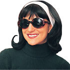 Flip Wig (Black) Adult  50's,fifties,onassis,jfk,kennedy,president's day,first l