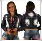 Sexy Ladies Denim Jacket Tattoo Women's Casual Summer Jacket Size 8,10,12,14 UK