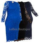 John Zack Maternity Slash Neck Stretch Lace Dress Choice of Colours New 6 - 18