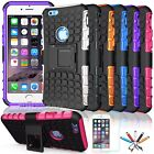 Heavy Duty Rugged Grip Hard Cover Case w/ Kick Stand for Apple iPhone 6 / 6S #47