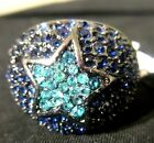 New York & Co Eva Pave Bubble Turquoise Blue Star Ring NY & Co Price $29.95