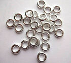 8mm Chunky tibetan Soldiered Closed Jump rings Bright SP Jewellery Link findings