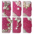 Rose Bling Diamond Wallet Leather Phone Case Cover For Nokia Lumia 630 635
