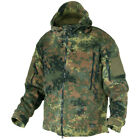 HELIKON ARMY TACTICAL HOODED DOUBLE FLEECE MILITARY COMBAT JACKET FLECKTARN CAMO