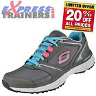 Skechers Womens Agility Sport Rewind Fitness Gym Trainers Grey * AUTHENTIC *