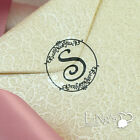 90/270 pieces Black Initial Monograms Wedding Envelope Invitation Stickers Seals