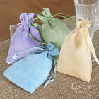 "4""x6"" Multicolor Burlap Candy Bags Wedding Party Favor Gift Jewelry Pouch Decor"