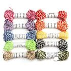 10/50m 8ply Cotton Bakers Twine Stripe Wedding Party Favour Gift Craft Supplies