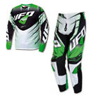 UFO 2015 Voltage Race Wear - Jersey Pant Motocross / Enduro Combo Kit Green