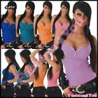 Women's Tank Top Sexy Ladies Casual Fitted Vest V-Neck Top Size 8,10,12 UK