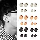 1 Pair 4/6/8/10/12/14mm Choose Steel Barbell Earrings Ear Studs Wholesale