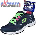 Skechers Womens Agility Sport Rewind Fitness Gym Trainers Black *AUTHENTIC*