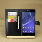 4Colors Wallet Leather Case Cover For Sony Xperia T2 Ultra dual D5322 XM50h #i
