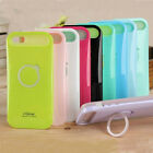 """Iglow Dual Color Hybrid Back Case Cover Ring for Apple iPhone 6 4.7"""" 5.5"""" Plus"""