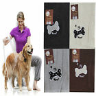 Embroidered 100% Cotton 60x120cm Soft Pet Dog Cat Drying Cleaning Towel Blanket