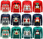 Mens Ladies Novelty Xmas Christmas Jumper Sweater with Flashing Lights