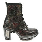 NewRock NEW ROCK M.NEOTR008-S13 VINTAGE RED FLOWER URBAN GOTHIC ROCK PUNK BOOTS