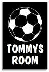 CUSTOM BEDROOM DOOR SIGN FOOTBALL SIGN with choice of name 1954 150mm x 200mm