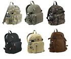 Rothco Canvas Student Travel Hiking Mini Compact Small Military School Backpack