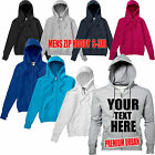 Mens SG Custom Printed Urban Zip Hooded Jacket Personalised Zoodie Hoodie Top