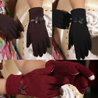 Chic Embellished Ribbon Touch Screen Texting Capacitive Smart Phone Gloves ST315