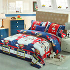 Christmas Man Quilt Doona Duvet Cover Set Single/Double/Queen/King Size Bed New
