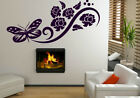 Butterfly And Flowers Art Wall Decoration Sticker Wall Tatoo. 30cm x 80cm