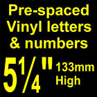 "QTY of:  8 x 5¼"" 133mm HIGH STICK-ON  SELF ADHESIVE VINYL LETTERS & NUMBERS"