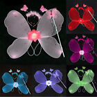 Girl Halloween Childrens Day Performance Costume Angel Butterfly Wing Wand Prop