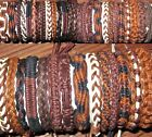 BRACELET BROWN COTTON WRISTBAND ANKLET 5 / 10 / 15  WHOLESALE BULK surf beach