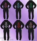Black Onesie KEEP CALM AND CANTER ON adult printed quality teen horse 80% COTTON