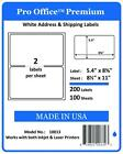 PO13 PRO OFFICE Premium Shipping Label Self Adhesive Ebay Paypal HALF SHEET